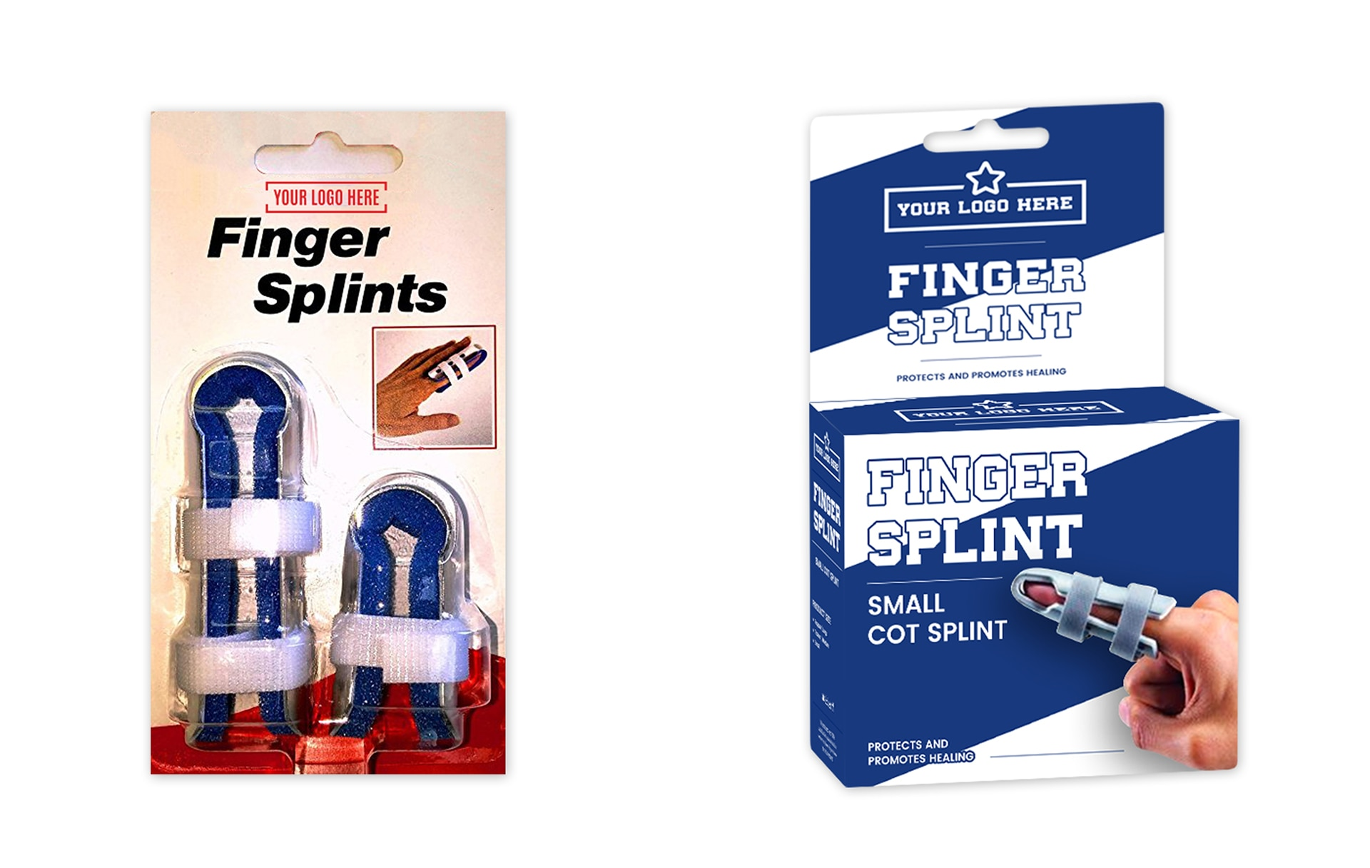 blister pack and boxes for finger splint private label
